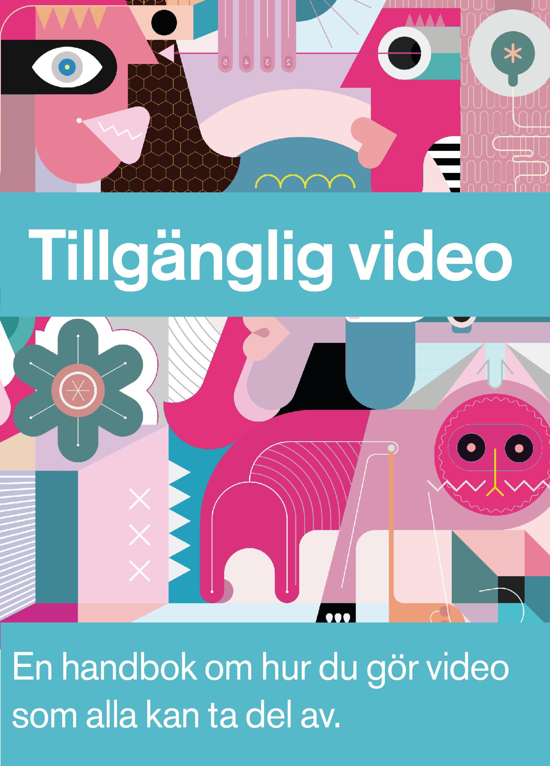Framsidan på bok om Tillgänglig Video.